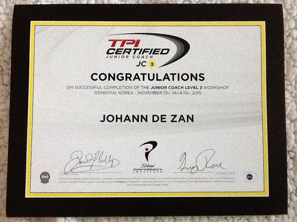 TPI Junior Certified Level III